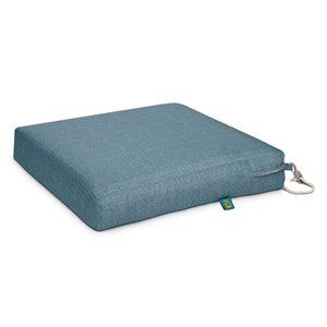 Coussin de chaise de patio carré Weekend de Duck Covers, ombre bleue