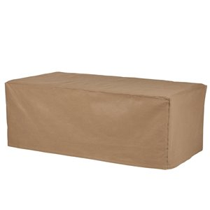 Duck Covers Essential Brown Polyethylene Patio Furniture Cover
