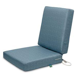 Coussin de chaise de patio Weekend de Duck Covers, ombre bleue