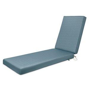 Coussin de chaise de patio rectangulaire Weekend de Duck Covers, ombre bleue