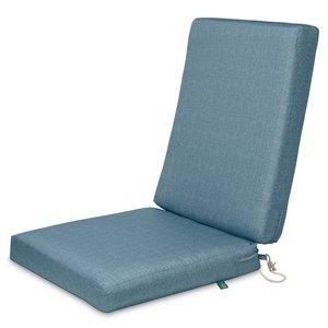 Coussin de chaise de patio carré Weekend ombre bleue de Duck Covers