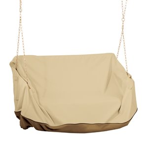 Classic Accessories Veranda Polyester Patio Furniture Cover - Tan