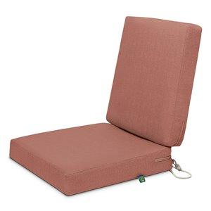 Coussin de chaise de patio carré Weekend de Duck Covers, bois de cèdre