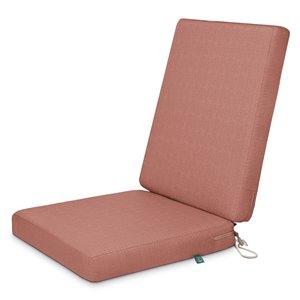 Coussin de chaise de patio carré Weekend bois de cèdre de Duck Covers