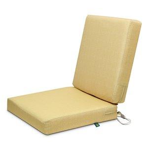Coussin de chaise de patio carré Weekend de Duck Covers, paille