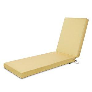 Coussin de chaise de patio rectangulaire Weekend de Duck Covers, paille
