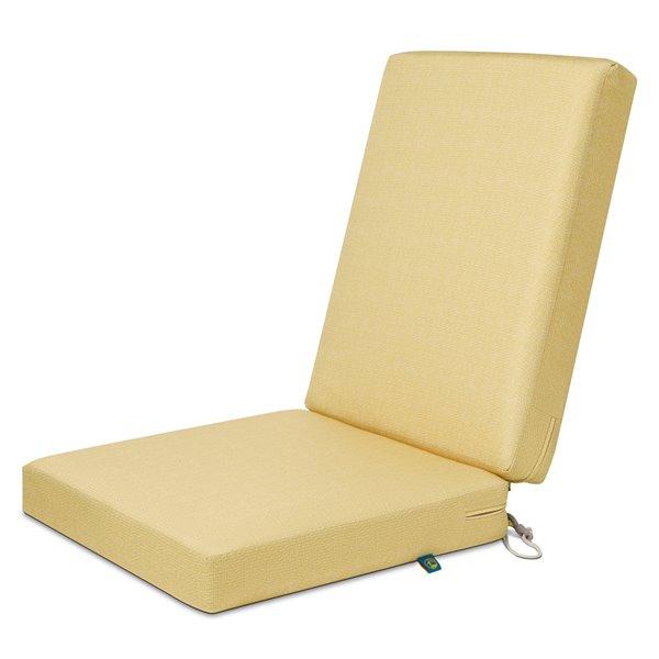 Coussin de chaise de patio carré Weekend paille de Duck Covers