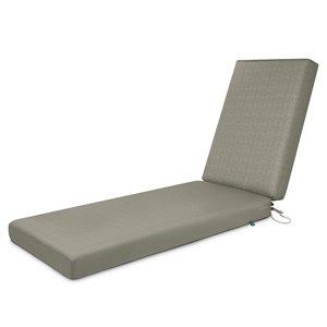 Coussin de chaise de patio rectangulaire Weekend de Duck Covers, pierre lunaire