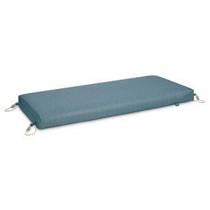 Coussin de chaise de patio rectangulaire Weekend ombre bleue par Duck Covers