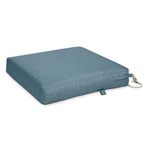 Coussin de chaise de patio Weekend carré ombre bleue par Duck Covers