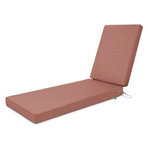 Coussin de chaise de patio rectangulaire Weekend de Duck Covers, bois de cèdre
