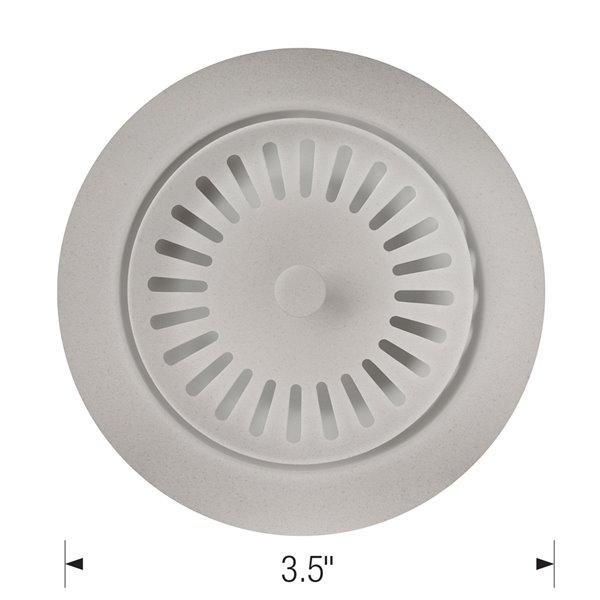 Crépine d'évier avec panier 3,5 po de BLANCO,gris béton acier inoxydable, antirouille (panier inclus)