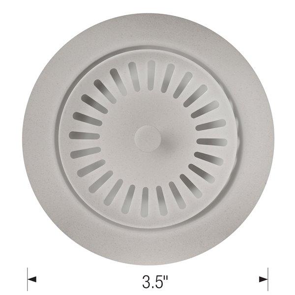 Crépine d'évier avec panier 3,5 po de BLANCO, acier inoxydable, antirouille, gris béton (panier inclus)