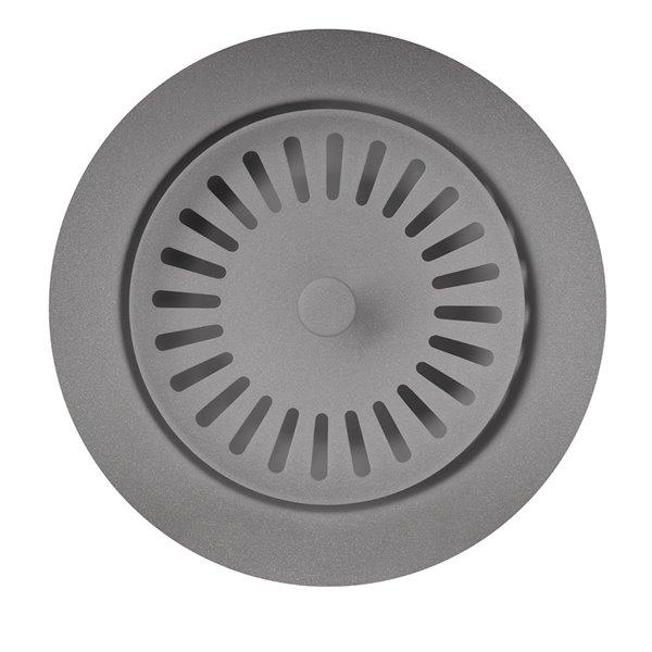 Crépine d'évier avec panier 3,5 po de BLANCO, acier inoxydable, antirouille, gris métallique (panier inclus)
