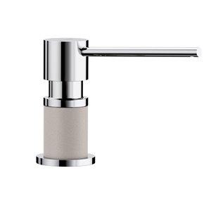 Blanco Lato Chrome/concrete Gray Soap And Lotion Dispenser