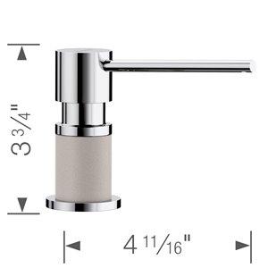 Distributeur de savon et de lotion Lato, chrome/béton gris, de BLANCO
