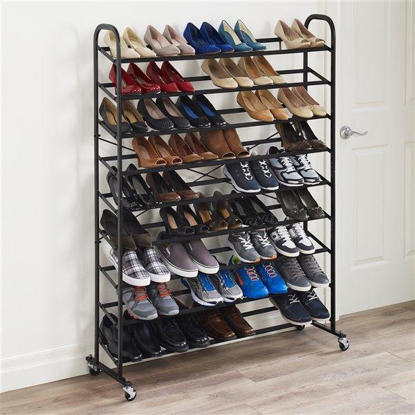 Support pour souliers en métal Neatfreak, 40 paires, noir