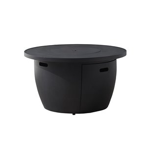 Ove Decors Vanessa 42.01-in 50,000-BTU Dark Charcoal Tabletop Stone Natural Gas Fire Table