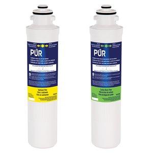 Filtre de rechange sous évier à bloc de carbone par PUR, paquet de 2