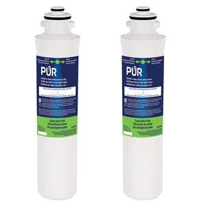 Filtre de rechange sous évier à bloc de carbone de PUR, paquet de 2