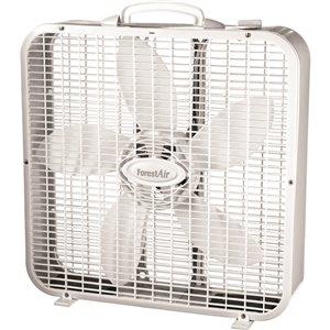 Ventilateur intérieur à caisson, blanc, 3 vitesses, 20 po, par Forest Air