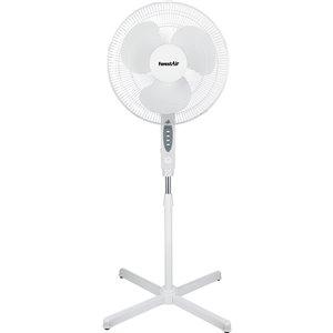Ventilateur sur pied oscillant avec télécommande, intérieur, blanc, 3 vitesses, 16 po, par Forest Air