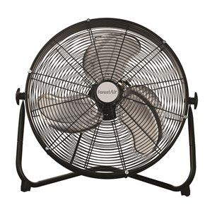 Ventilateur intérieur à haute vitesse, noir, 3 vitesses, 20 po, par Forest Air