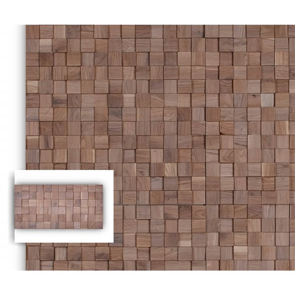 Timberwall 1/4-in x 8-in Mosaic Chessboard Oak White Square Stained Board