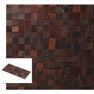 Planche décorative teinte en mosaïque Échiquier de Timberwall, 1/4 po x 12 po, brun cendré