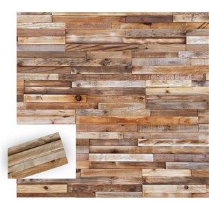 Planche décorative en pin recyclé Rayures de Timberwall, 1/2 po x 8 po