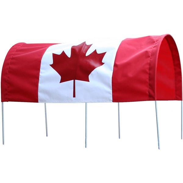 Auvent avec drapeau canadien pour chariot de 16 po x 34 po par Millside
