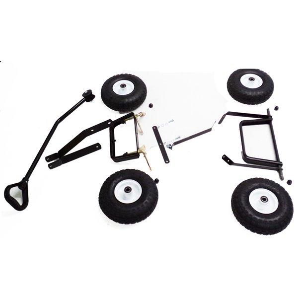 Ensemble d'accessoires pour chariot avec poignée et roues de 10 po par Millside, lot de 4