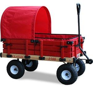 Chariot classique par Millside avec demi-auvent hydrofuge