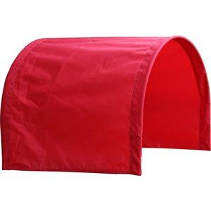 Demi-auvent rouge pour chariot de 20 po x 38 par Millside