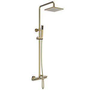 Système de douche avec barre ajustable Jacki par Jade Bath, or brossé