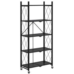 WHI 27.95-in D x 13.39-in W x 63.78-in H 5-tier Metal Utility Shelf