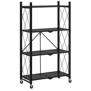 WHI 27.95-in D x 13.39-in W x 49.6-in H 4-tier Metal Utility Shelf