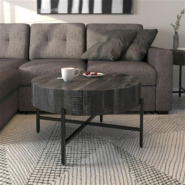 Table basse en bois gris par !nspire