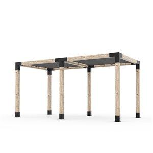 Toja Grid Any Size Double Pergola Kit - 6x6 Wood