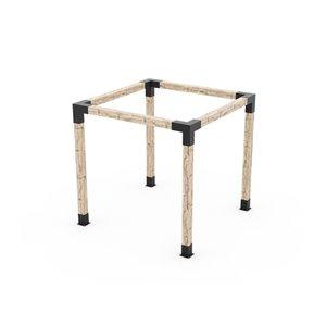 Ensemble de supports à pergola auto-portée en métal noir pour poteau de bois 6 x 6 par Toja Grid