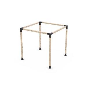 Ensemble de supports à pergola auto-portée en métal noir pour poteau de bois 4 x 4 par Toja Grid