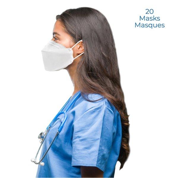 Masque de protection jetable tout usage FN-N95 par Dent-X, paquet de 20