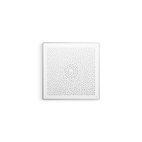 Pomme de douche blanche à 1 jet de 2.5 GPM (9.5 LPM) Real Rain de Kohler
