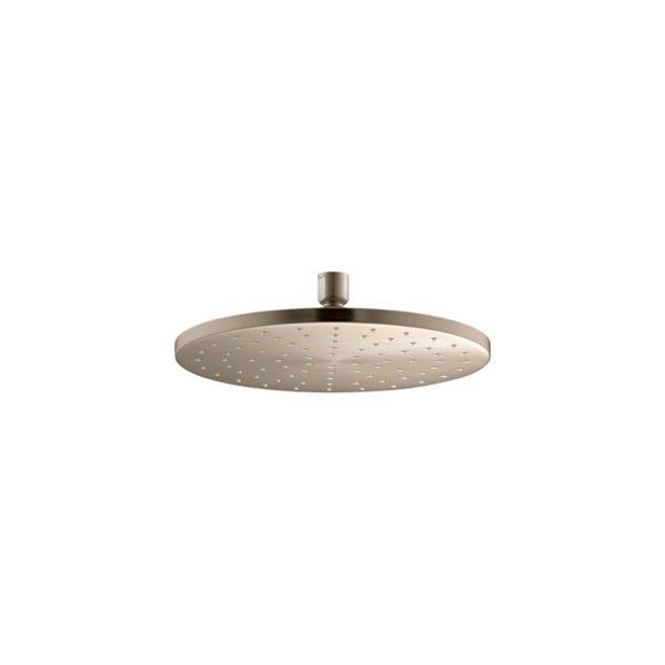 Pomme de douche à effet pluie en bronze brossé de 2.5 GPM (9.5 LPM) de Kohler