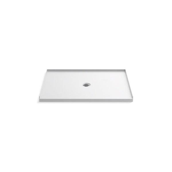 Base de douche en acrylique blanc Ballast de Kohler de 36 po L x 48 po l avec drain au centre