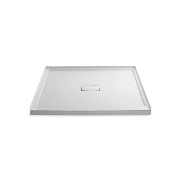 Base de douche en acrylique blanc Archer de Kohler de 60 po L x 60 po l avec drain au centre