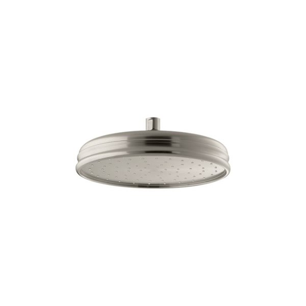 Pomme de douche ronde en nickel brossé à 1 jet de 2.5 GPM (9.5 LPM) de Kohler