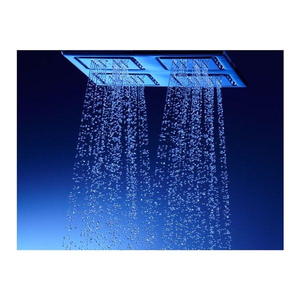 Pomme de douche en chrome poli à 1 jet de 1.0 GPM (3.8 LPM) WaterTile Rain de Kohler