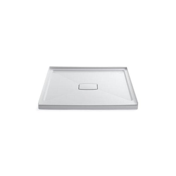 Base de douche en acrylique blanc Archer de Kohler de 48 po L x 48 po l avec drain au centre