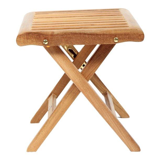 Tabouret en bois de teck naturel par ARB Teck & Specialties